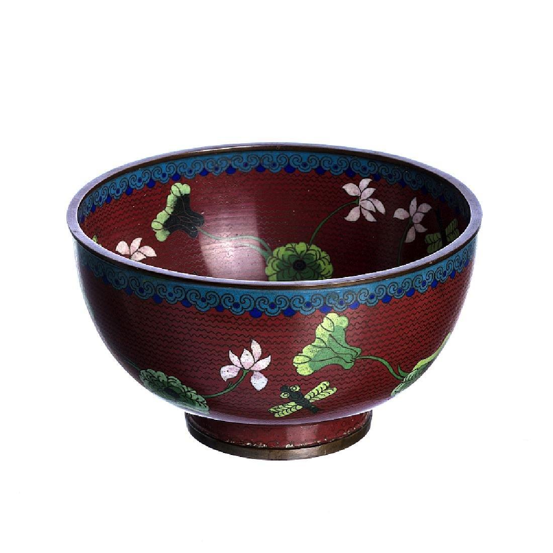 Chinese cloisonné bowl, Minguo