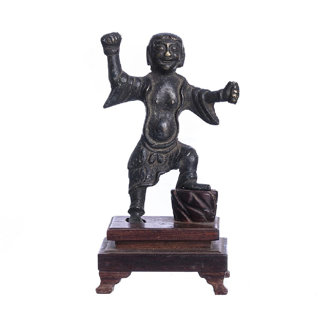 Bronze figure with base