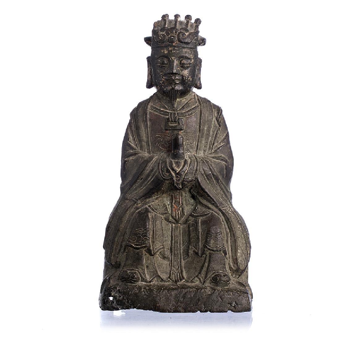 Dignitary figure in bronze