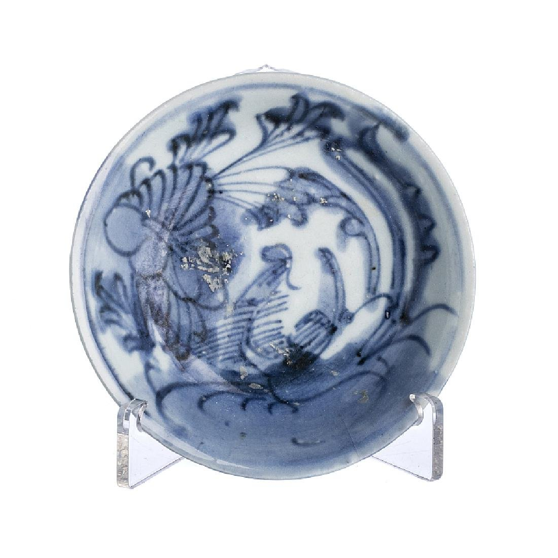 Small plate in Chinese porcelain, Ming