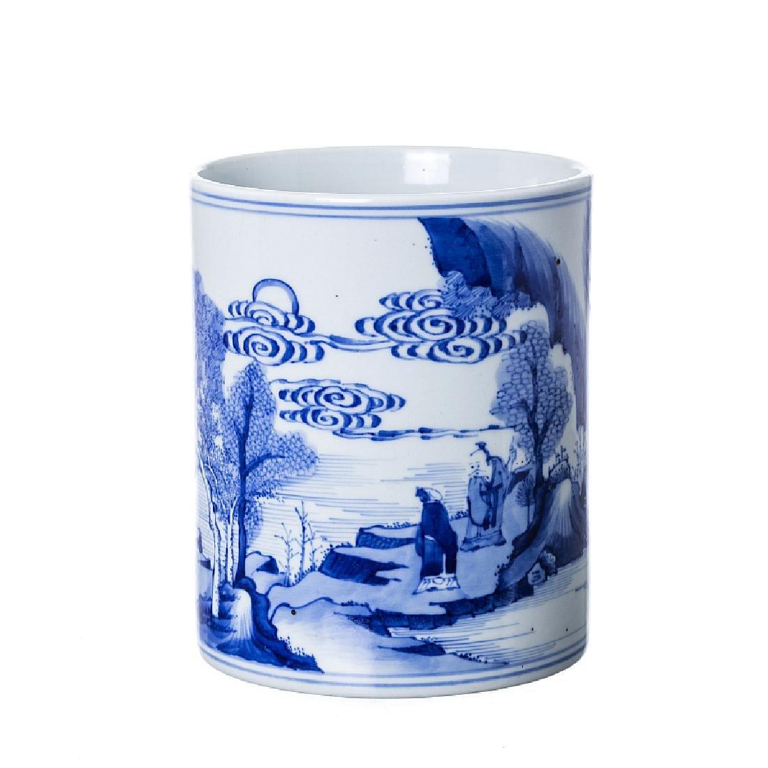 Chinese porcelain Brushpot, Guangxu