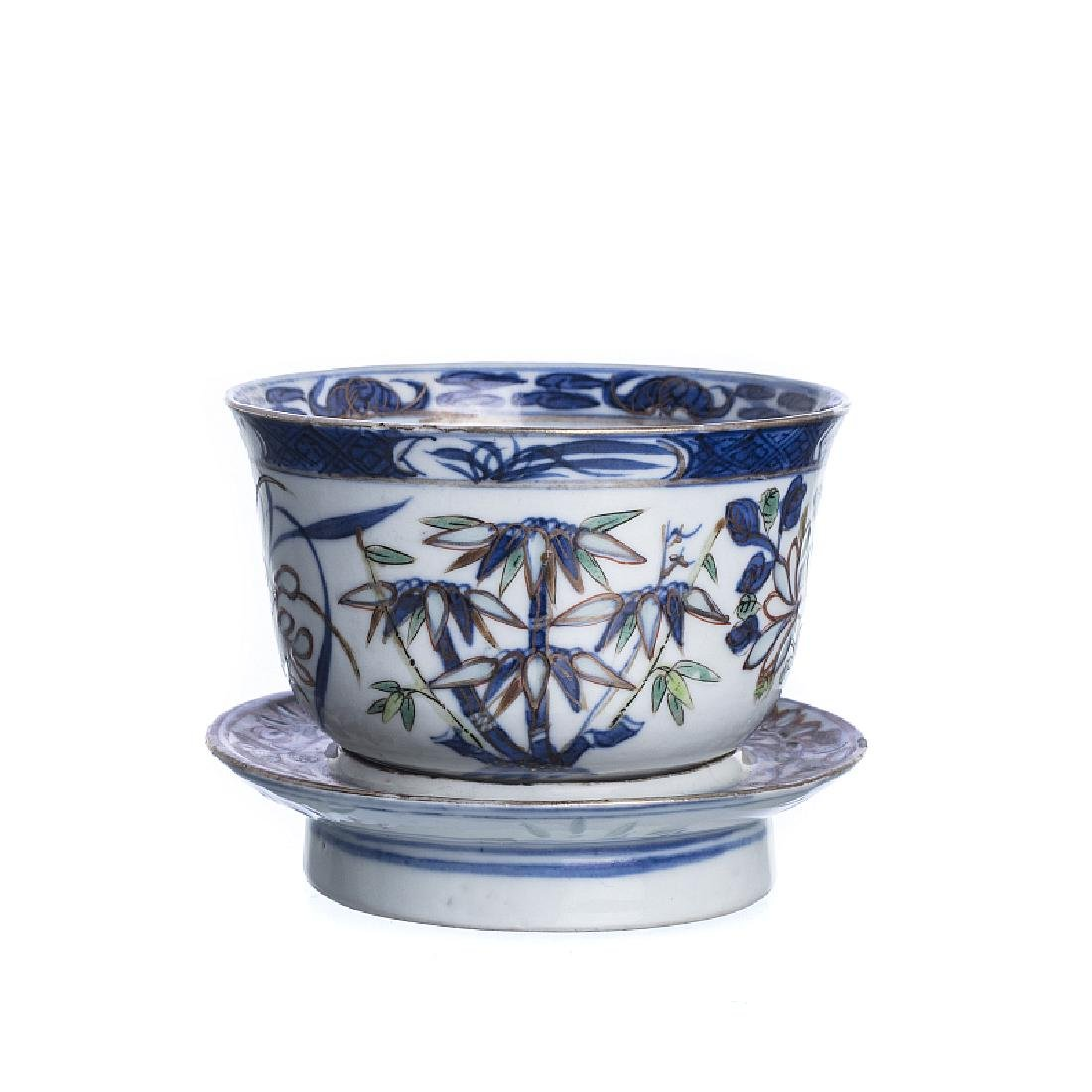 Chinese porcelain Cup with presentoir, Guangxu