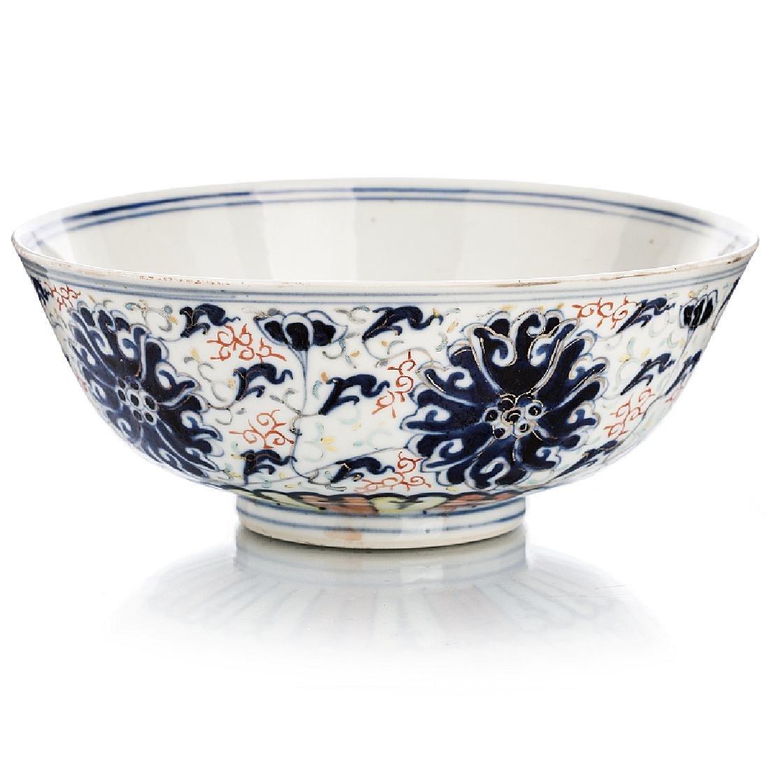 Bowl 'Lotus flower' in Chinese porcelain, Guangxu