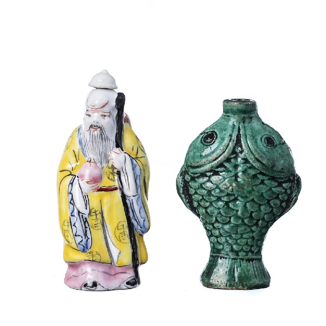 Two Chinese snuff flasks