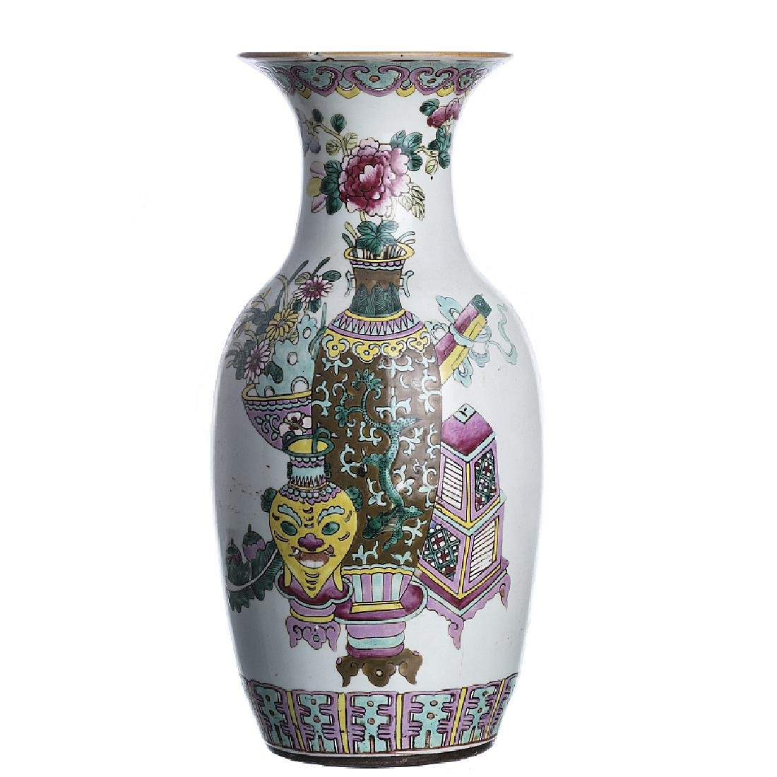 Chinese porcelain 'precious objects' vase