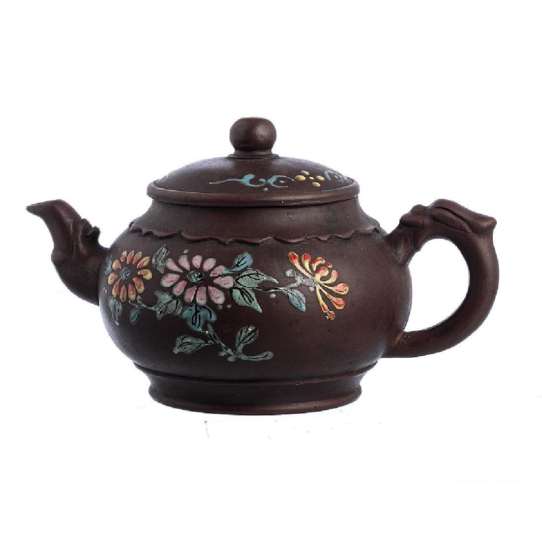 """Flowers"" teapot"" in Yixing ceramics"