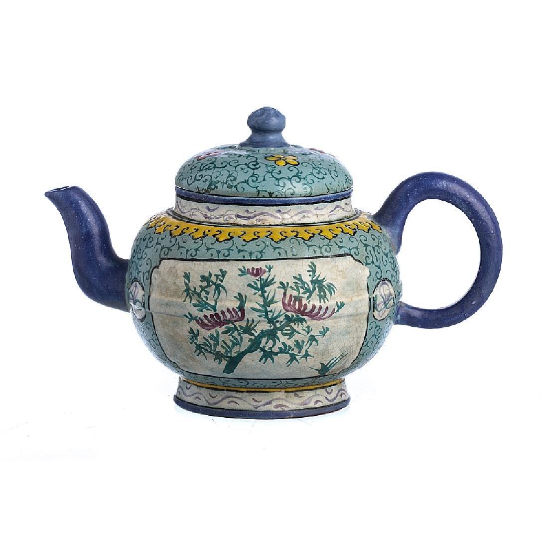 Teapot in Yixing ceramics, Minguo