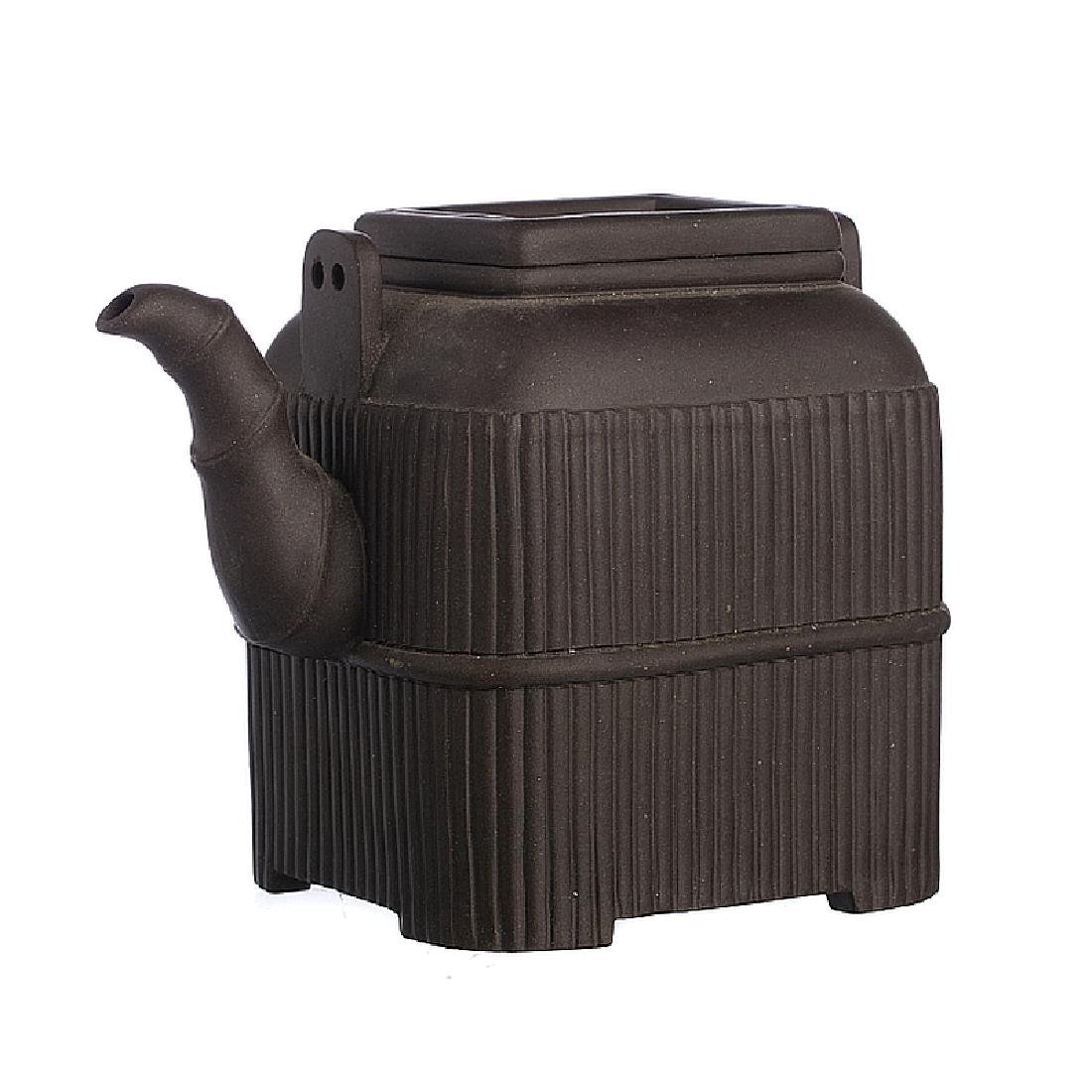 Chinese Yixing Ceramic Fluted Teapot