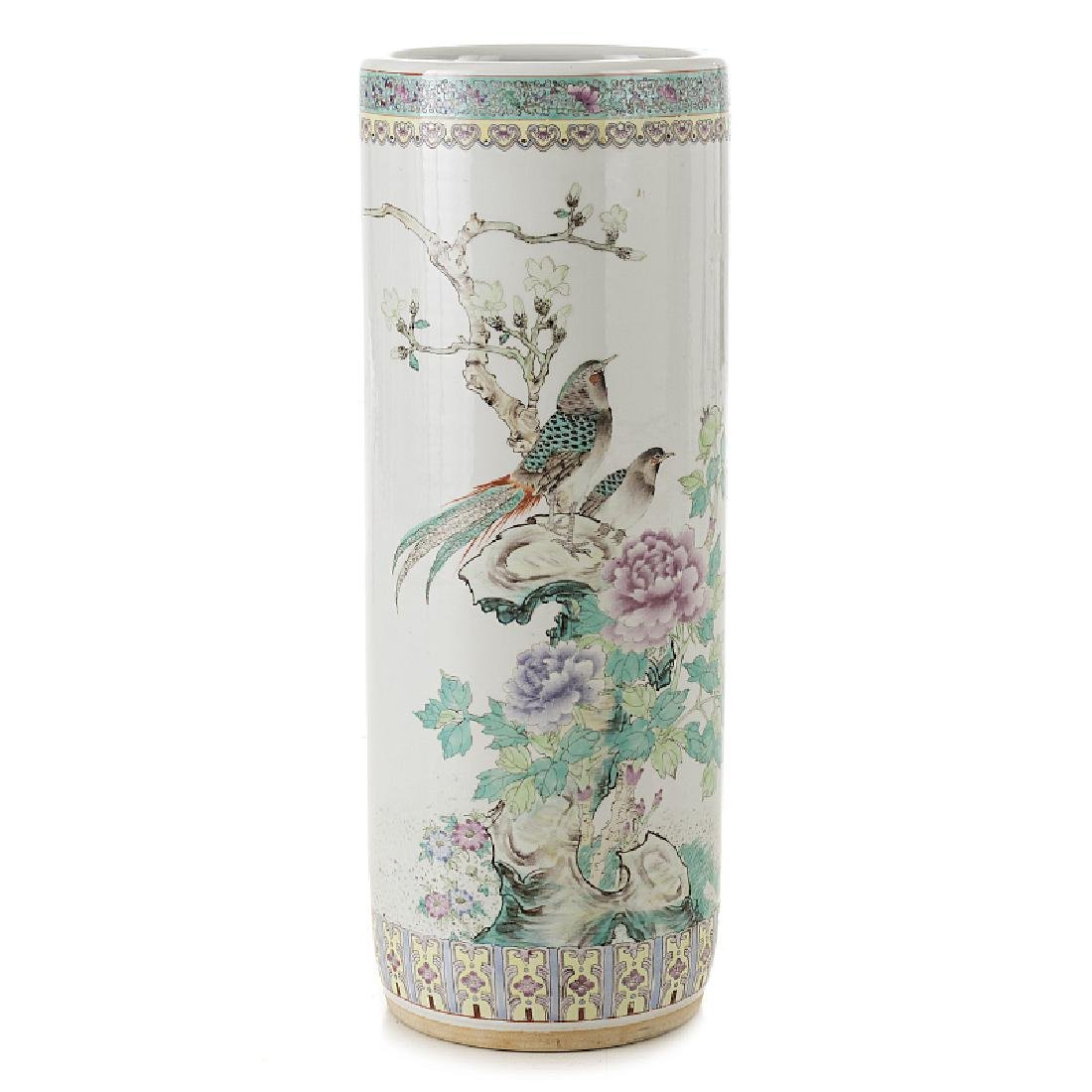 Umbrella holder in Chinese porcelain