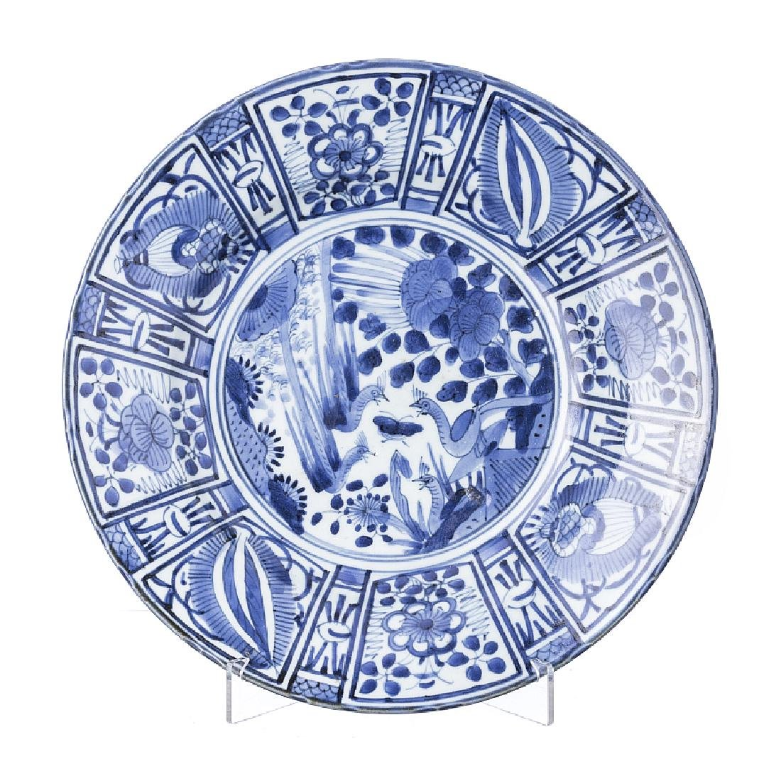 Kraak plate in Japan Porcelain