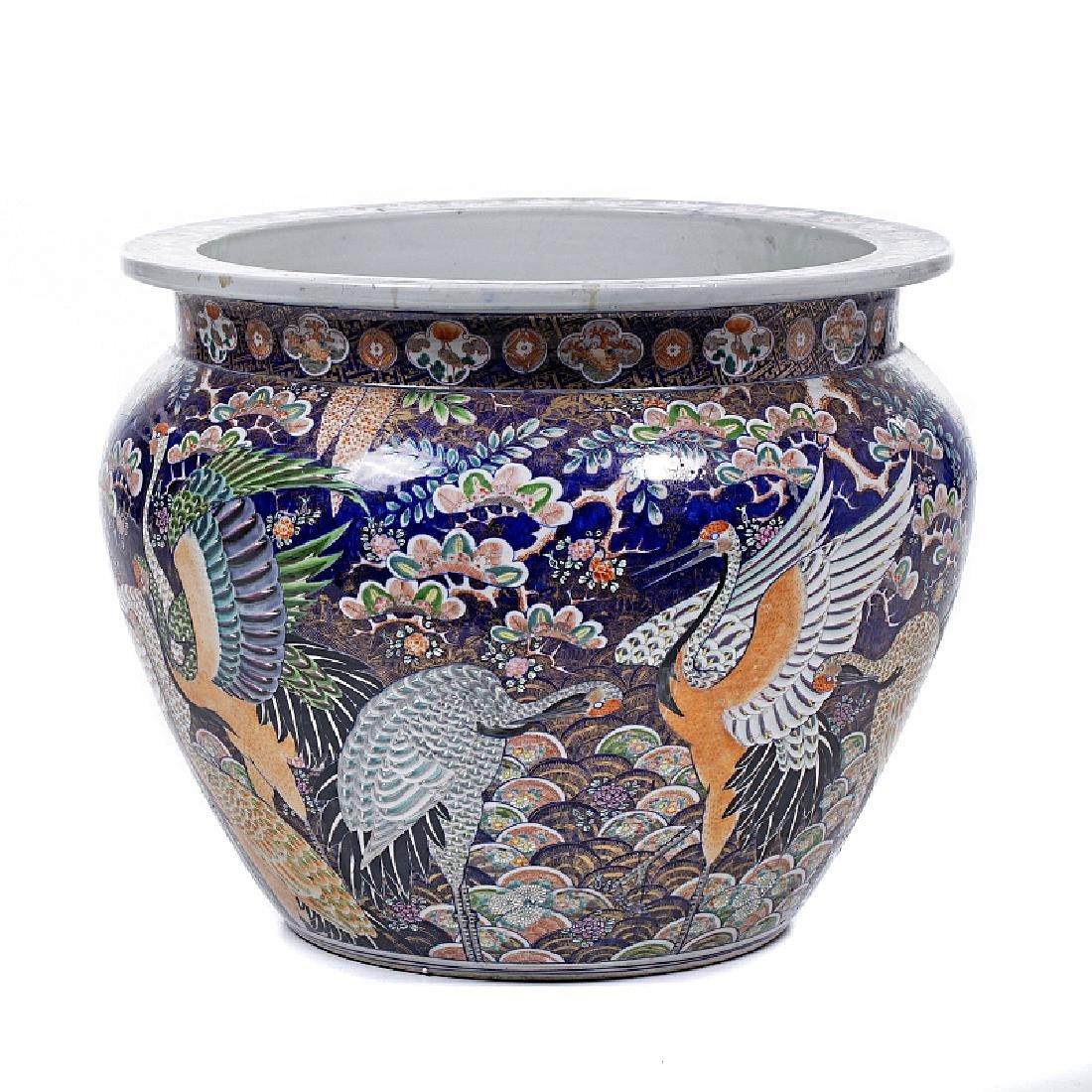 Japanese porcelain fishbowl