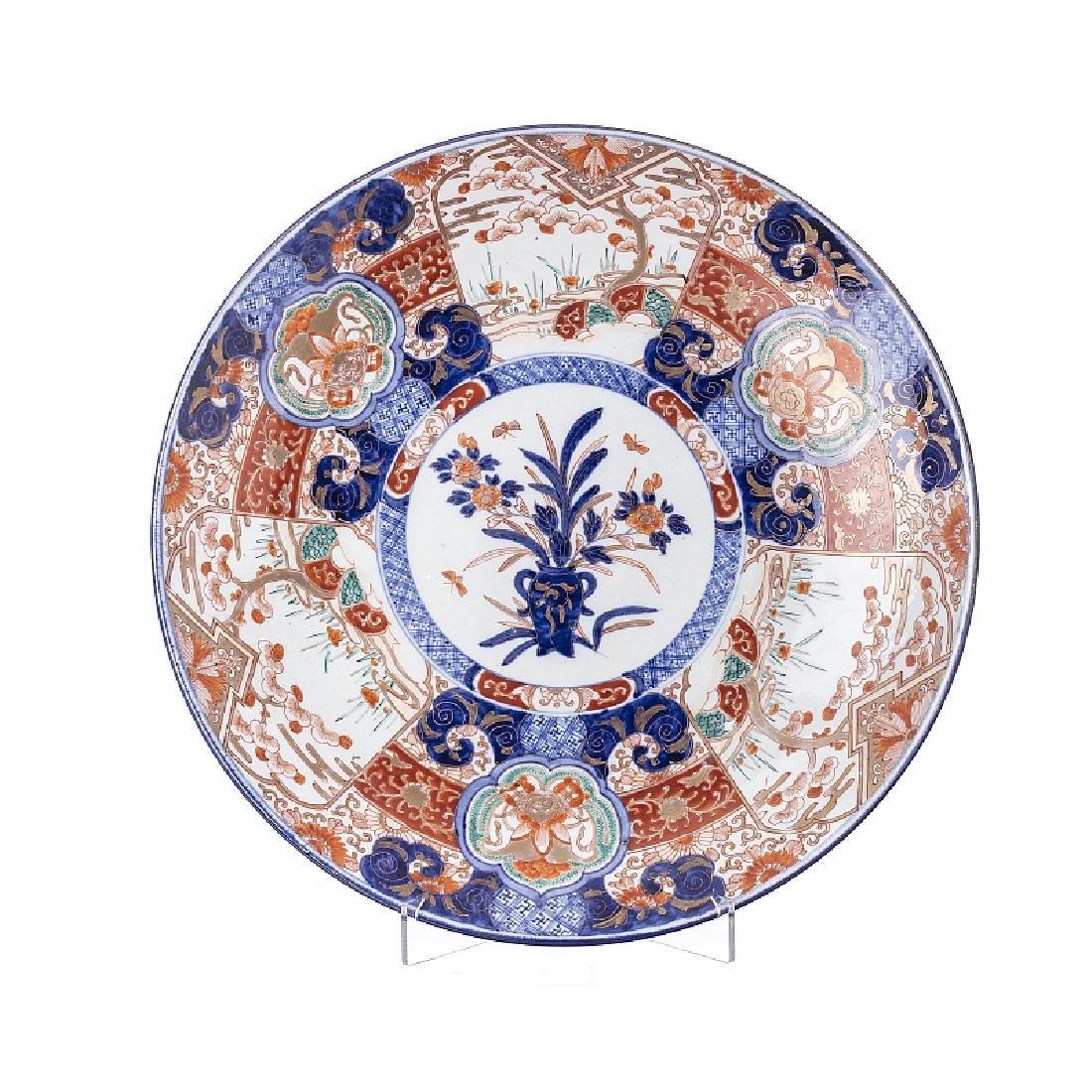 Large plate in Imari porcelain, Japan