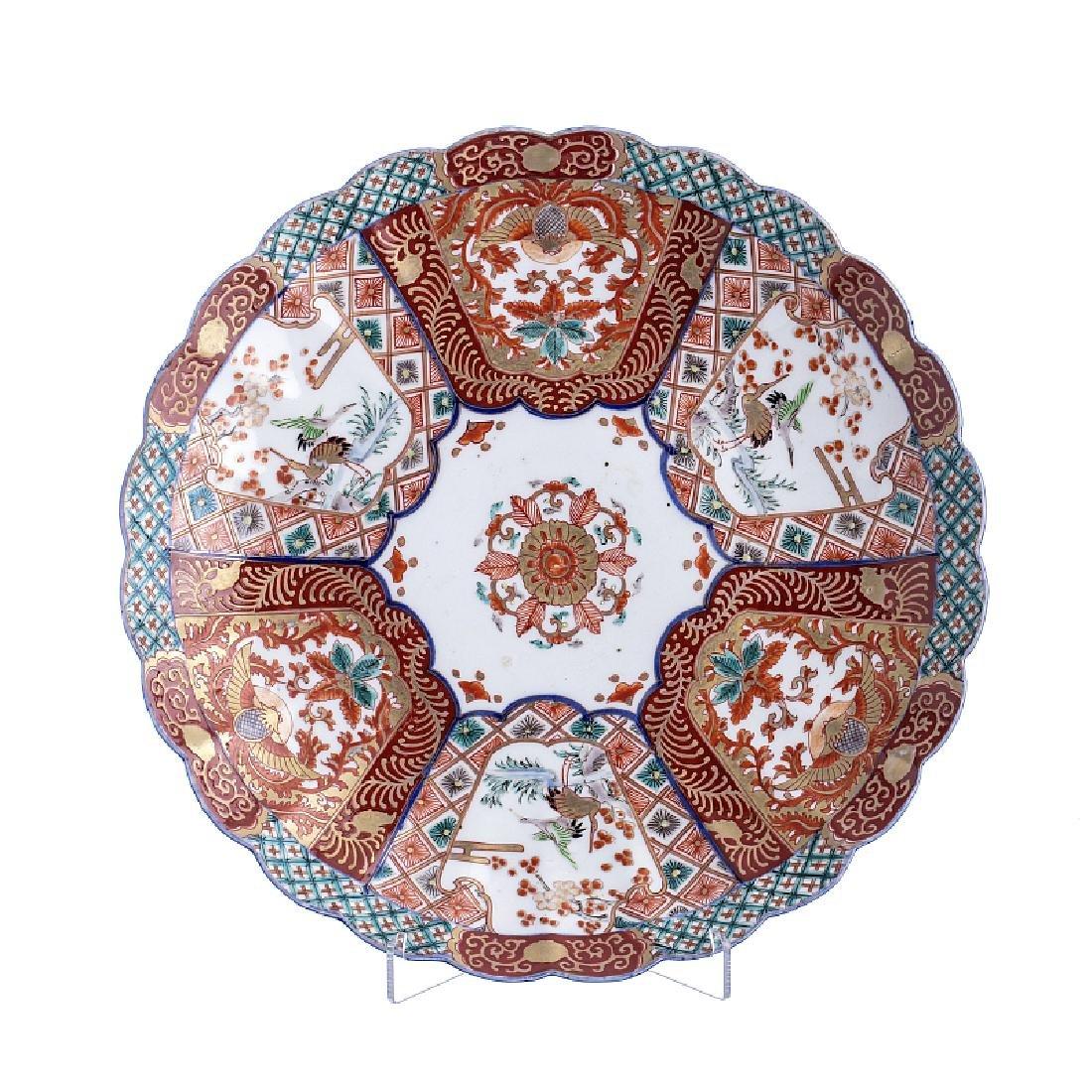 Plate in Imari porcelain, Japan