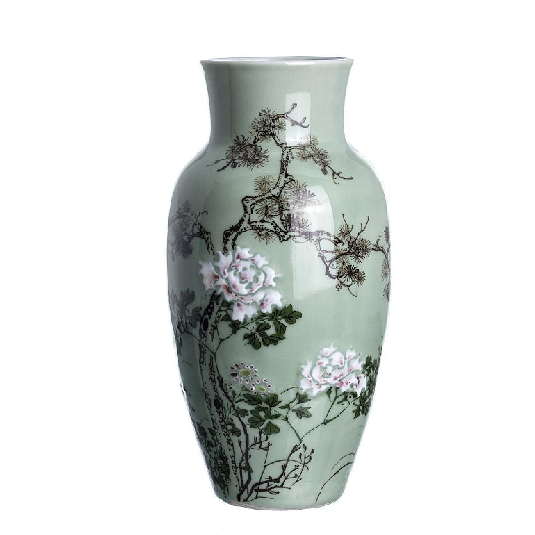 Japanese porcelain vase celadon