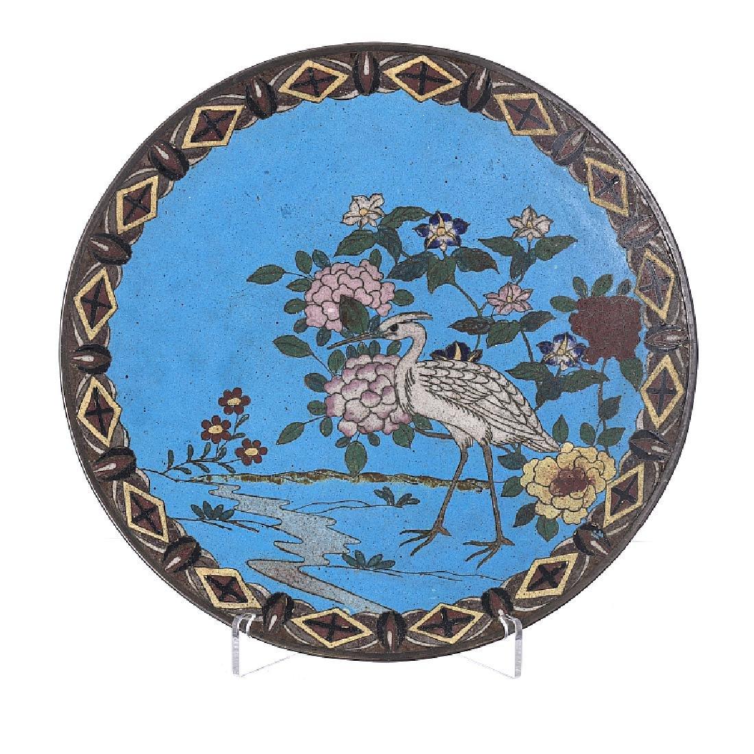 Cloisonne metal plate