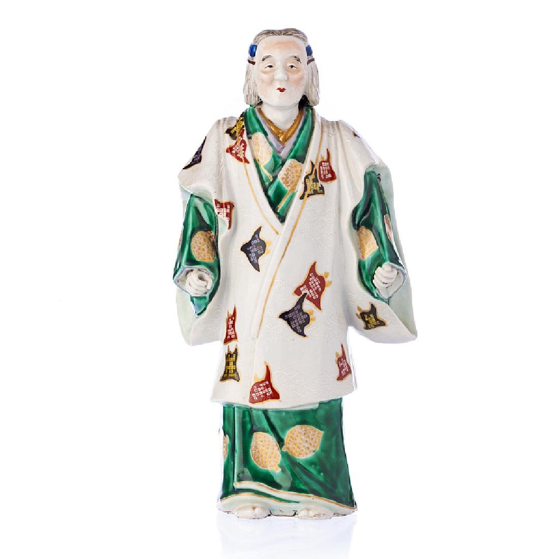 Theater' figure in Japanese porcelain, Meiji