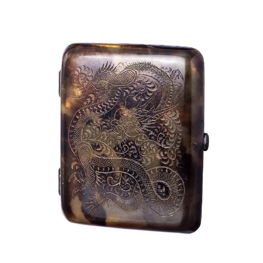 Tortoiseshell dragon cigarette case