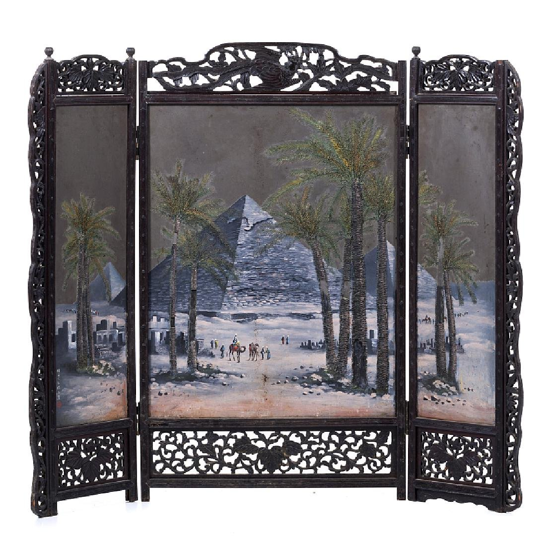 Japanese folding screen 'pyramids'