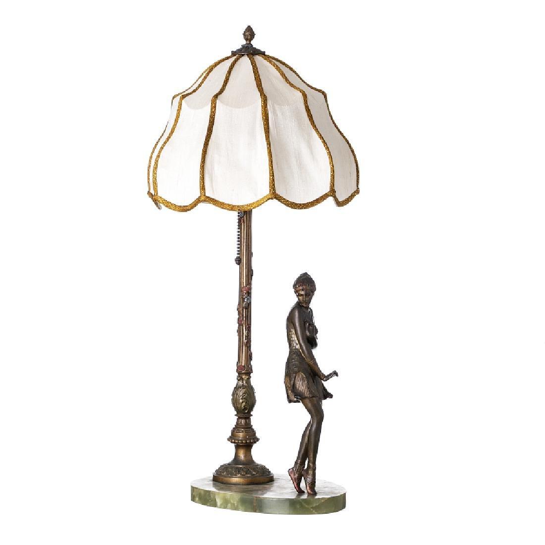 BRUNO ZACH (1891-1935) - Figurative Art Deco lamp