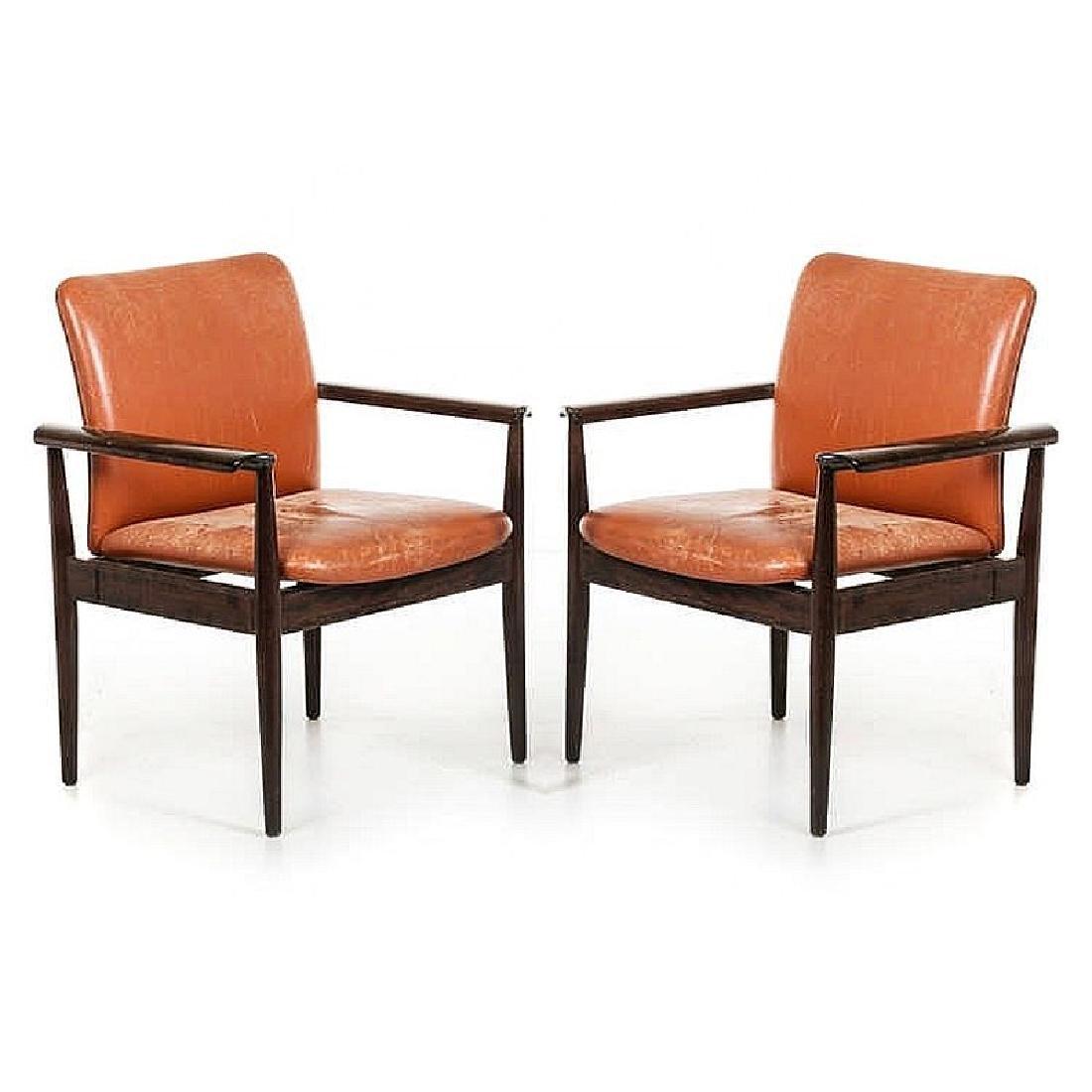 FINN JUHL (1912-1989) - Two Diplomat chairs