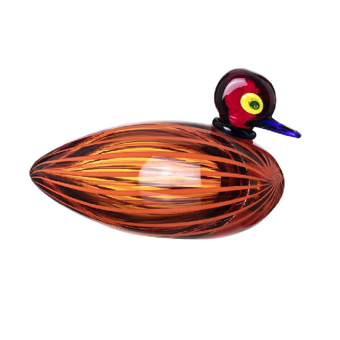 STEFANO TOSO (1958) - 'Duck' in Murano glass