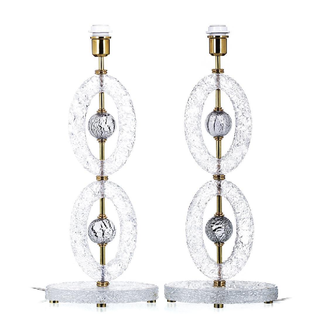 GIANLUCA FONTANA (XX / XXI) - Pair of Murano glass