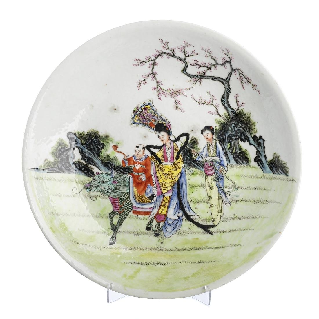 Qilin plate in Chinese porcelain