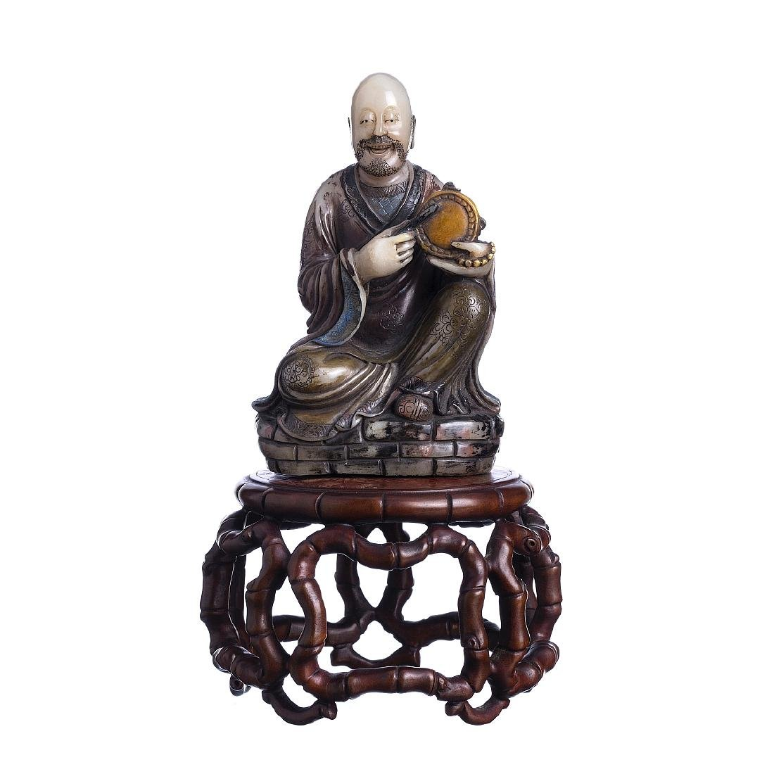 Chinese musician in hardstone, Guangxu