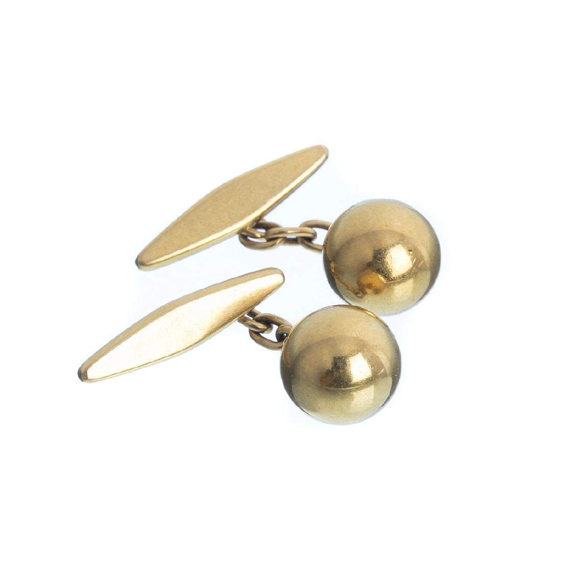 Pair of gold cuff-links