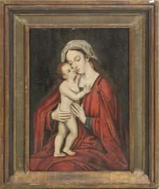 FLEMISH SCHOOL, 15th/16thC - Madonna and Child