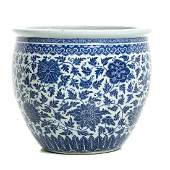 Large porcelain aquarium from China, Jiaqing/Daoguang