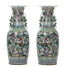 Pair of Large Chinese Porcelain floor Vases, Tongzhi