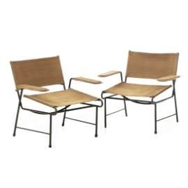 MATHIEU MATEGOT (1910-2001) - Pair of Cordoba fauteuils