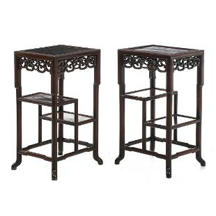 Pair of etagere tables Minguo