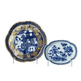 Two saucers in chinese porcelain Qianlong