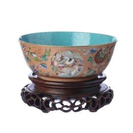 Chinese emblem porcelain bowl, Tongzhi mark and period