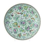 Large plate 'flowers, fruits, birds and butterflies' in