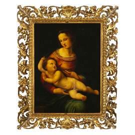 Follower of RAFAEL, 17th century - 'Madonna with Child