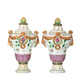 Important Pair of Famille Rose Chinese Export Porcelain