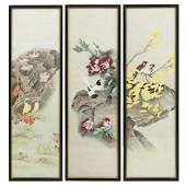 CHINESE SCHOOL, 20thC - Three paintings