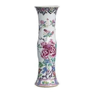 Chinese porcelain trumpet vase, Yongzheng