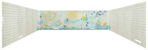 JULIO RESENDE (1917-2011) - Large tiled mural