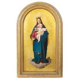 ERNST DEGER (1805-1885) - The Virgin as Queen of Heaven