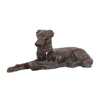 Greyhound art deco ceramic sculpture.
