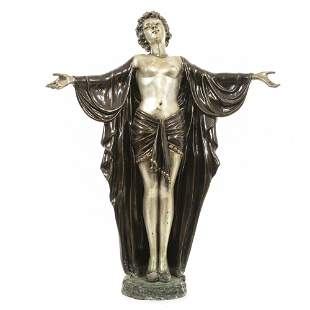 Large Art deco dancer sculpture