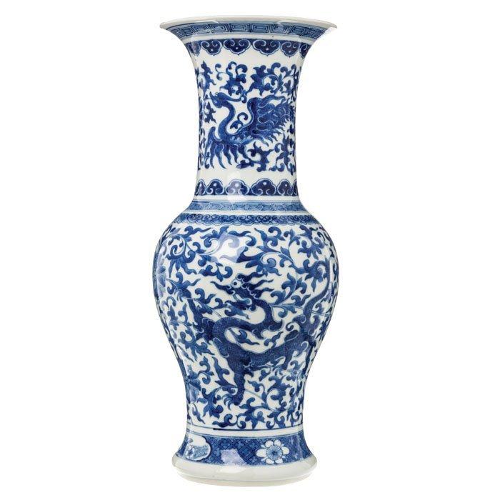 Vase 'dragons' porcelain from China, Daoguang