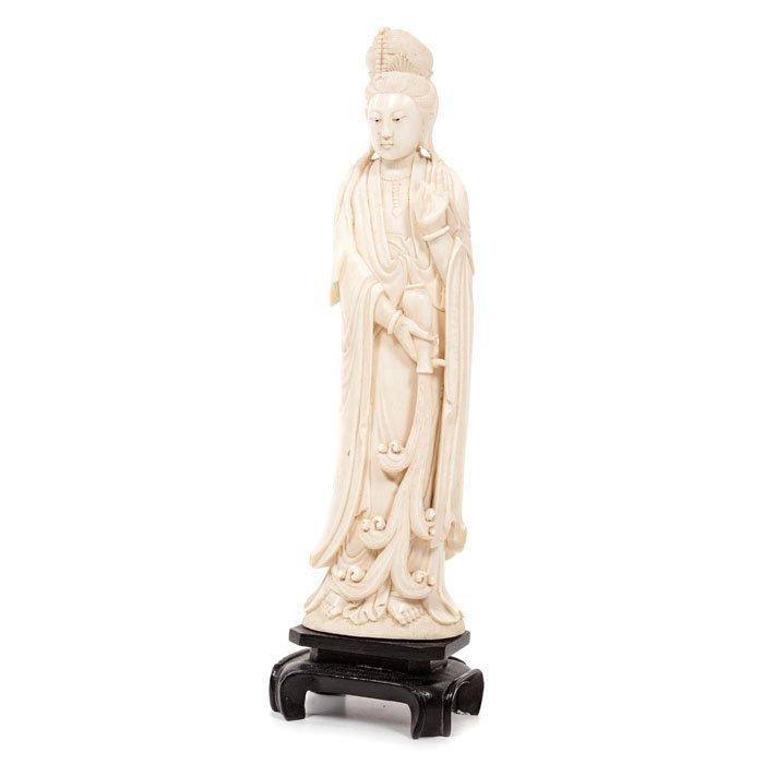 Ivory Guanyin, China, Minguo period