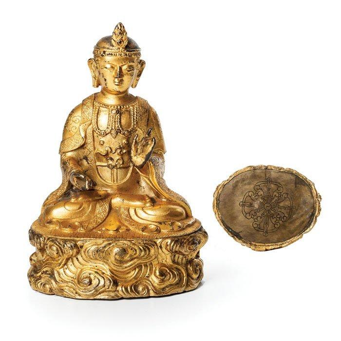 Gilt bronze Bodhisattva, China