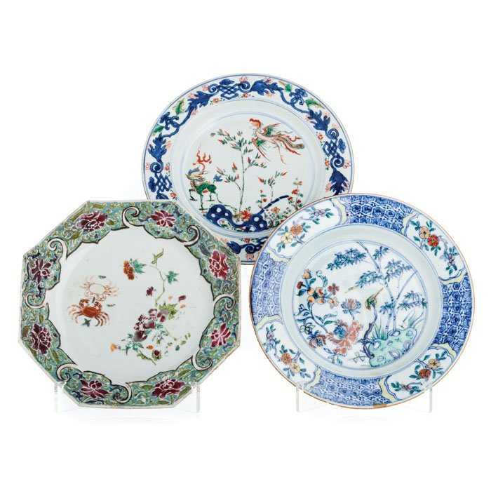 Three figurative plates Porcelain China