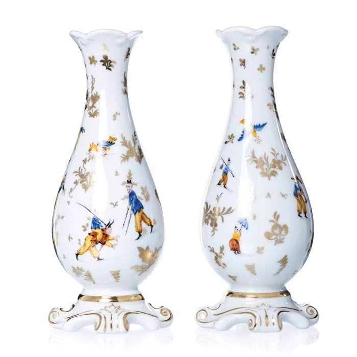 Pair of Cropped Foot Jars by Vista Alegre, Collect